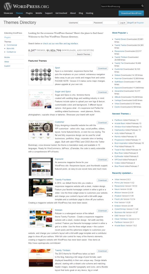 wordpress-free-theme-repository