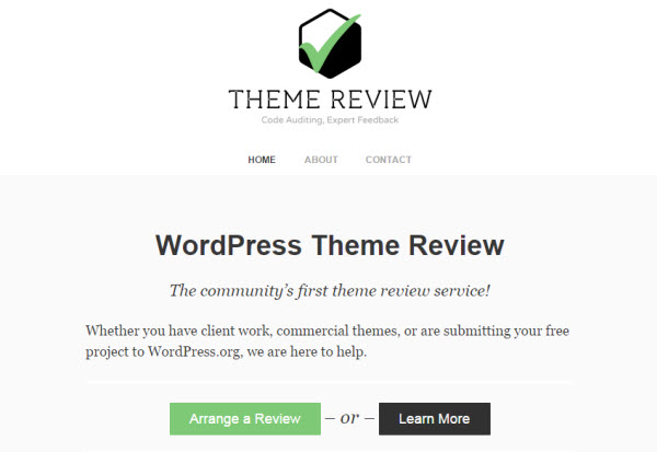 WordPress Theme Review Service